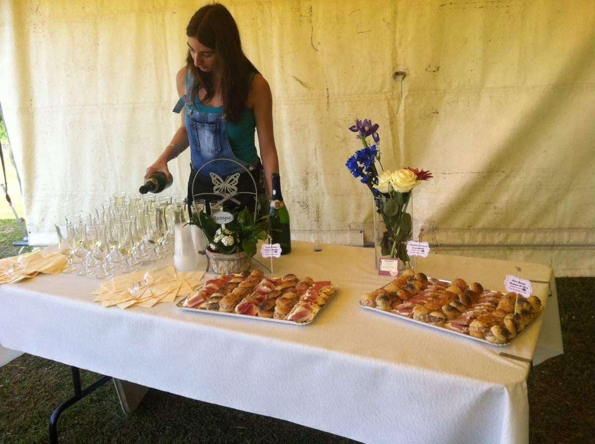 table vin honneur